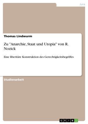 Zu  Anarchie  Staat und Utopia  von R  Nozick PDF