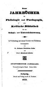 Neue Jahrbücher für Philologie und Paedogogik: Band 44