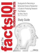Studyguide for Becoming a Behavioral Science Researcher PDF