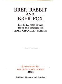 Brer Rabbit and Brer Fox PDF