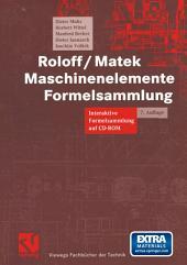 Roloff/Matek Maschinenelemente Formelsammlung: Interaktive Formelsammlung auf CD-ROM, Ausgabe 7