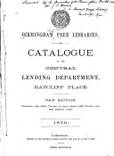 Catalogue of the Central Lending Department PDF