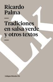 Tradiciones en salsa verde y otros textos