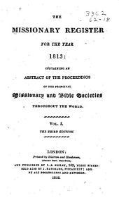 Missionary Register: Volume 1