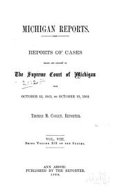 Michigan Reports. 1. VOL. 1-200 ONLY: Volume 12