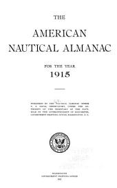 The American nautical almanac: Volume 1915