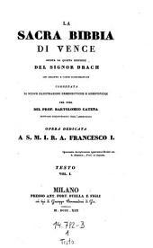 """""""La"""" sacra bibbia di Vence giusta la quinta edizione del ... Drach ... per cura di Bartolomeo Catena (etc.)"""