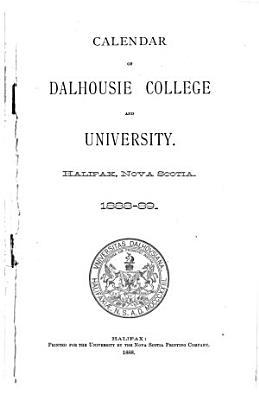 Calendar of Dalhousie College and University PDF