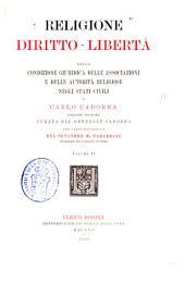 Religione, diritto, libertà: della condizione giuridica delle associazioni e delle autorità religiose negli stati civili