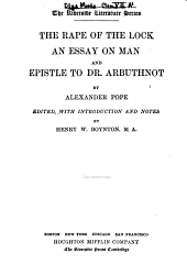 The Rape of the Lock: An Essay on Man and Epistle to Dr. Arbuthnot