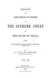 The Texas Reports: Cases Adjudged in the Supreme Court, Volume 20