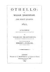 Shakespeare-quarto Facsimiles: Othello ... 1. quarto