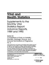 Vital and health statistics: Compilations of data on natality, mortality, marriage, divorce, and induced terminations of pregnancy, Issues 6-7