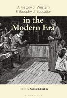 A History of Western Philosophy of Education in the Modern Era PDF