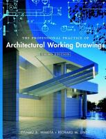 The Professional Practice of Architectural Working Drawings PDF