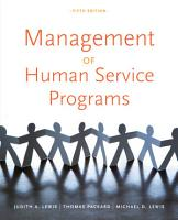 Management of Human Service Programs PDF