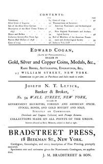 American Journal of Numismatics  and Bulletin of American Numismatic and Arch  ological Societies