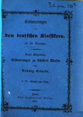 Erläuterungen zu den deutschen Klassikern: Schillers Kabale und Liebe, Bände 5-6