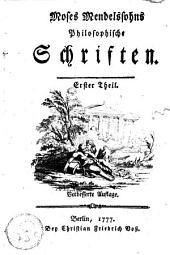 Philosophische Schriften: Band 1