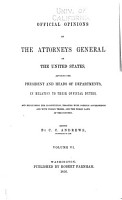 Official Opinions of the Attorneys General of the United States PDF
