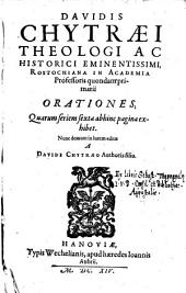 Orationes ... ed. a Davide Chytraeo authoris filio