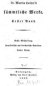 Sämmtliche Werke: Homiletische und katechetische Schriften: Hauspostille : erster Band, Band 1