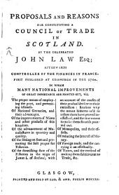 Proposals and Reasons for Constituting a Council of Trade in Scotland