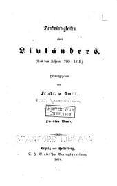 Denkwürdigkeiten eines Livländers: Aus den Jahren, 1790-1815, Band 2