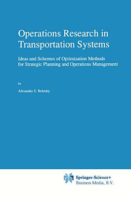 Operations Research in Transportation Systems PDF