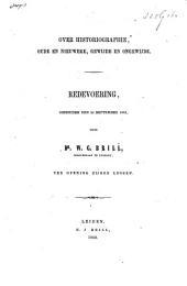 Over historiographie, oude en nieuwere, gewijde en ongewijde