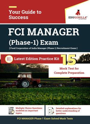 FCI MANAGER Phase 1 Recruitment Exam 2020   15 Mock Test