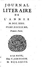Journal literaire: Volume12