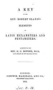 Elements of Latin hexameters and pentameters. Key