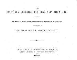 The Southern Counties  Register and Directory