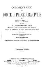 Commentario del Codice di procedura civile del regno d'Italia: Volume 8