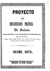 Proyecto de constitución política de Bolivia