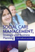 Social Care Management  Strategy and Business Planning PDF