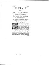 Hallelujah, or Britain's second remembrancer. With an intr. by E. Farr. 3 pt. [in 2].