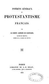 Intérêts généraux du protestantisme français