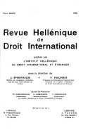 Download Revue hell  nique de droit international Book