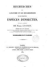 Recherches sur l'anatomie et les metamorphoses de differentes especes d'insectes: 1