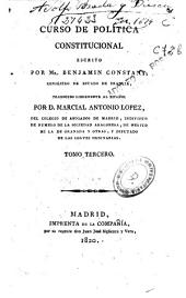Curso de política constitucional: Volumen 3