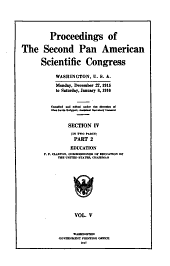 Proceedings of the second Pan American scientific congress: Washington, U. S. A., Monday, December 27, 1915 to Saturday, January 8, 1916, Volume 5