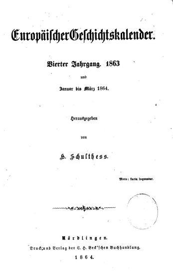 Schulthess  europ  ischer Geschichtskalender PDF