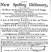 The New Spelling Dictionary