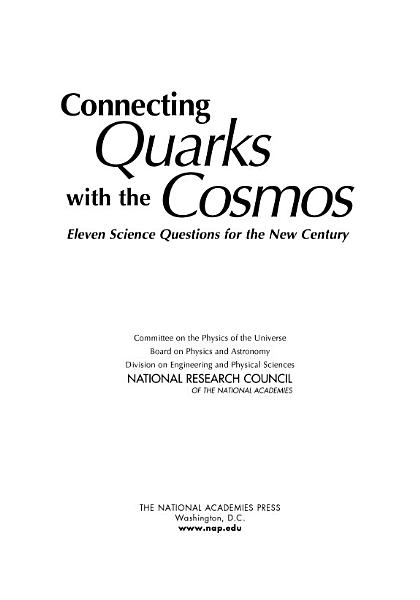 Download Connecting Quarks with the Cosmos Book