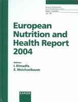 European Nutrition and Health Report 2004 PDF