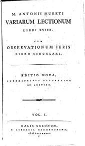 Variarum lectionum libri XVIIII.