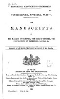 The Manuscripts of the Marquis of Ormonde  the Earl of Fingall  the Corporations of Waterford  Galway   c PDF
