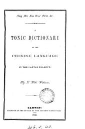 subcYing subc̲wá subcfan wan' ts'üt, iá'. A tonic dictionary of the Chinese language in the Canton dialect